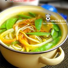 南瓜金针菇汤的做法