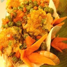 蛋黄鲜虾饼的做法