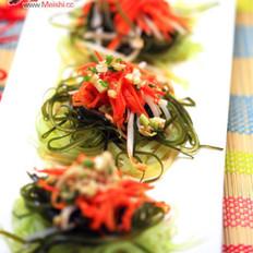 笋丝海带丝拌胡萝卜的做法