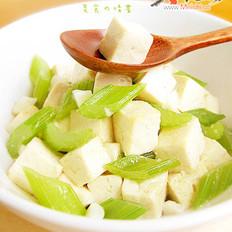 芹菜烧豆腐的做法