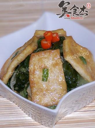 豆腐小白菜的做法