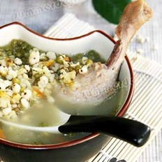 绿豆薏仁鸭汤的做法