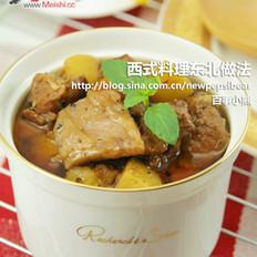 黑椒牛腩煲的做法