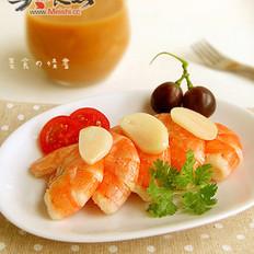 干煎蒜子大虾的做法