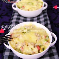火腿蛋焗饭的做法