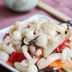 凉拌五彩蘑菇的做法