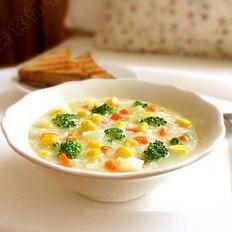蔬菜玉米麦片粥的做法