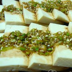 葱拌豆腐的做法