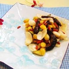 百合鲜果炒素鳝的做法