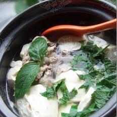 薄荷豆腐汤的做法