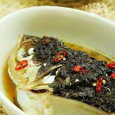 榄豉酱蒸鱼头的做法