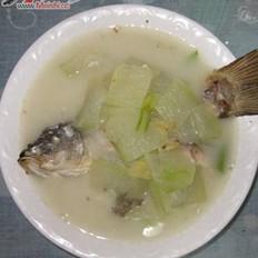 鲤鱼冬瓜汤的做法