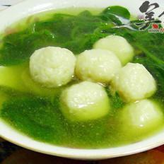 鱼丸菠菜汤的做法