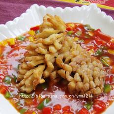 茄汁菊花鱼的做法