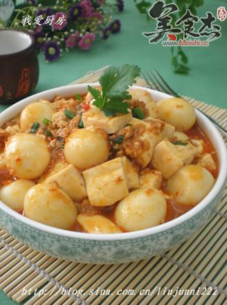 鹌鹑蛋烧豆腐的做法