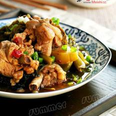 酸菜烧鸡的做法