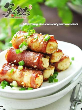 培根豆腐卷的做法