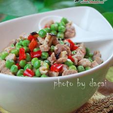 青豌豆炒肉丁的做法