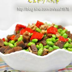 毛豆米炒大头菜的做法