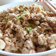 虾酱版鸡刨豆腐的做法