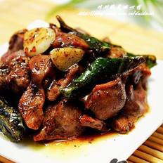 杭椒鸡胗和凉拌脆鸡胗的做法