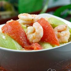 番茄丝瓜炒嫩虾