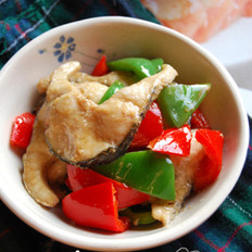 双椒豉油黑鱼片的做法