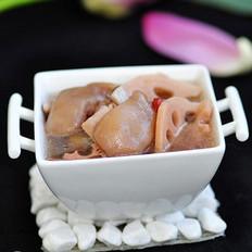 莲藕猪手汤的做法