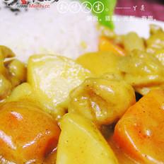 咖喱土豆鸡饭的做法