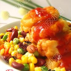 茄汁浇鱼柳