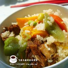 鸭肉南瓜饭的做法