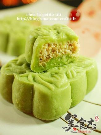 香兰椰丝冰皮月饼的做法