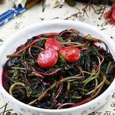 蒜头炒红苋菜的做法