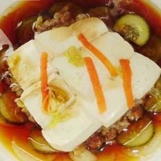 肉酱蒸豆腐的做法