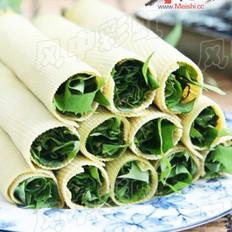豆皮卷苣荬的做法