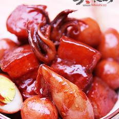 鹌鹑蛋鱿鱼红烧肉的做法