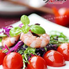 鲜虾杂蔬沙拉的做法