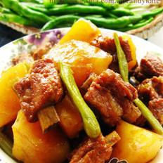 豆角土豆炖排骨的做法