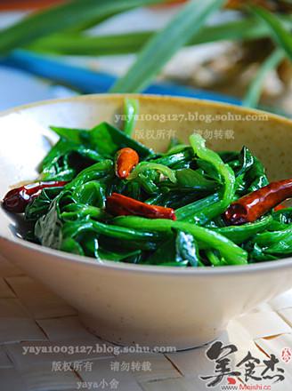 炝菠菜的做法