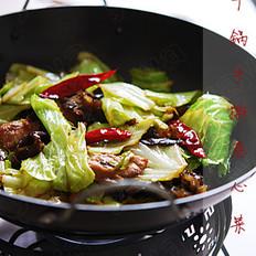 干锅手撕卷心菜的做法