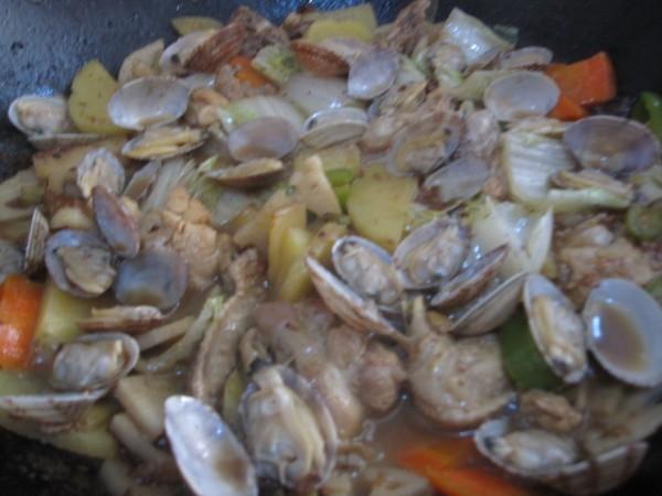 蛤蜊煎蛋图片