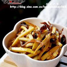 油煎杏鲍菇黄鸡枞的做法