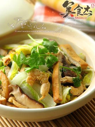 干锅虾娃娃菜的做法