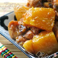 土豆南瓜炖鸡的做法