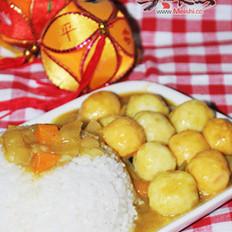 咖喱鱼丸饭