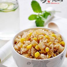 酸萝卜甜玉米炒饭