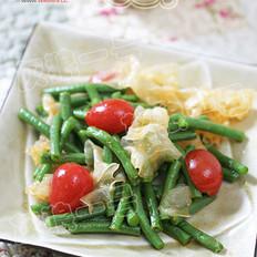 番茄銀耳拌豇豆的做法