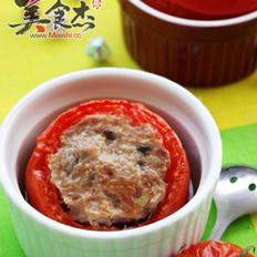 肉糜酿番茄的做法
