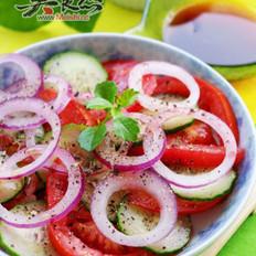 番茄鲜蔬沙拉的做法