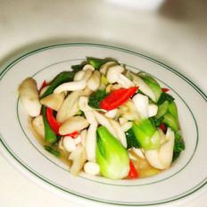 白玉蘑菇炒油菜